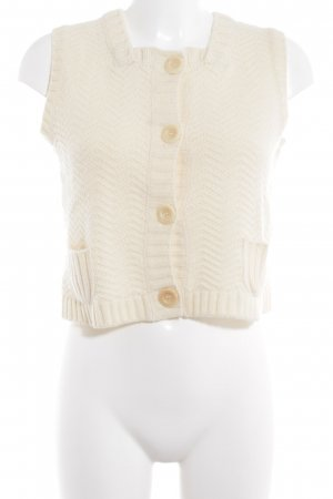 See by Chloé Knitted Vest cream weave pattern casual look