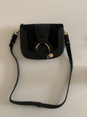 See by Chloé Crossbody bag black-sand brown leather