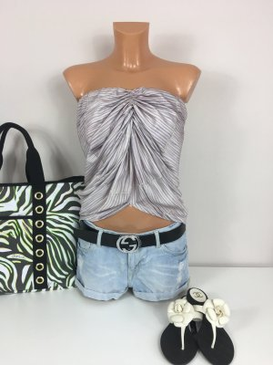 See by Chloe Top Bluse Shirt Oberteil Gr. 34/36 gerafft in Taupe Farbe