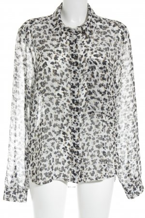 See by Chloé Transparent Blouse abstract pattern street-fashion look