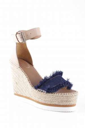 See by Chloé Wedge Sandals multicolored beach look