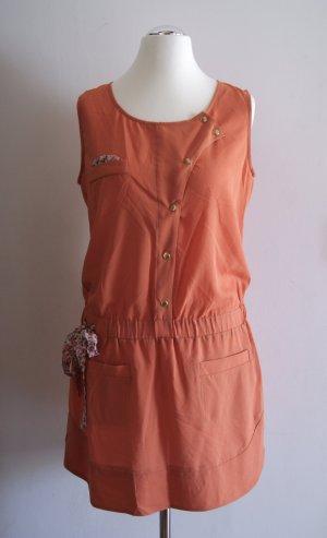 SEE U SOON kurzes Kleid, Gr. L, ziegel-rot (orange-rot) NEU