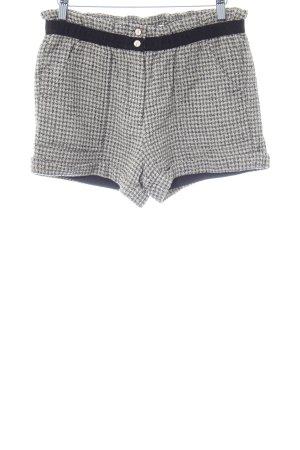 See u soon Shorts beige-schwarz Hahnentrittmuster Street-Fashion-Look