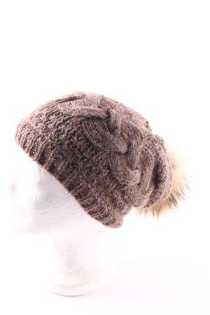 Seeberger Fellmütze graubraun-beige Casual-Look