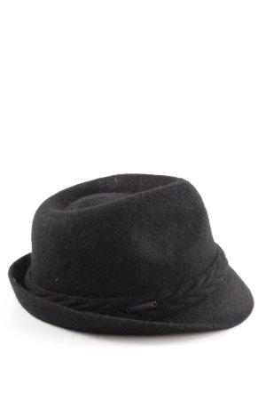 Seeberger Filzhut schwarz extravaganter Stil