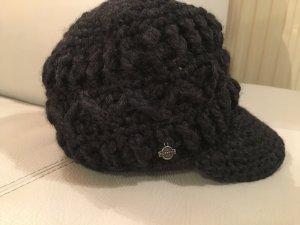 Seeberger Gorra de plato gris antracita-negro tejido mezclado