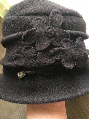 Seeberger Woolen Hat brown-dark brown new wool