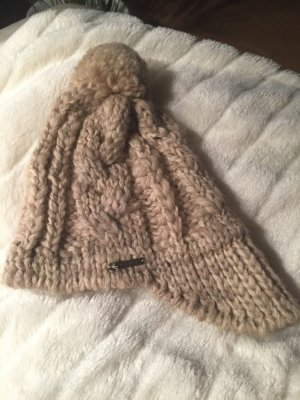 Seeberger Cappello a maglia marrone chiaro-color cammello