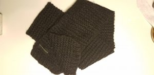 Seeberger Knitted Scarf dark grey mixture fibre