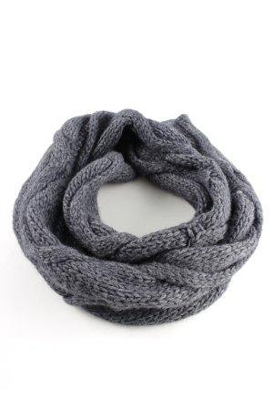 Seeberger Gebreide sjaal lichtgrijs gestippeld casual uitstraling
