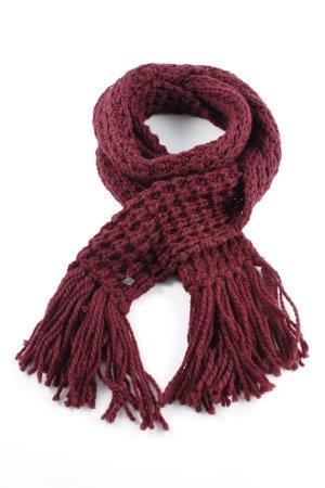 Seeberger Sciarpa lavorata a maglia bordeaux punto treccia stile semplice