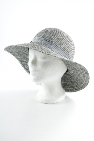 Seeberger Straw Hat grey mixed pattern casual look