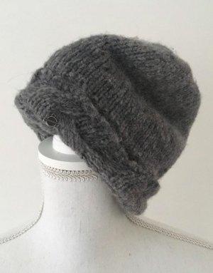 Seeberger Wollmütze Alpaka Wolle Grau
