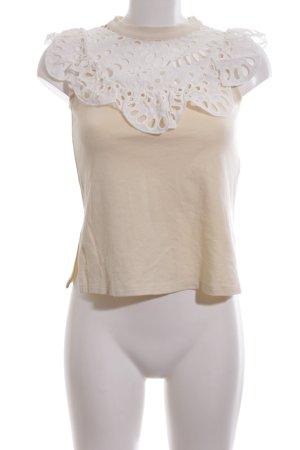 SeeByChloé ärmellose Bluse creme-weiß Casual-Look