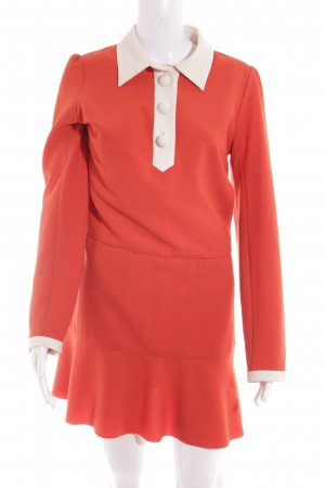 SeeByChloé Minikleid orange-wollweiß 70ies-Stil
