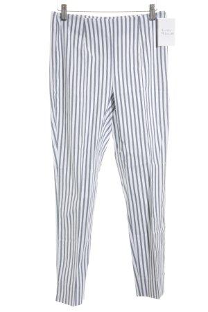 Seersucker 7/8-Hose weiß-graublau Streifenmuster Business-Look