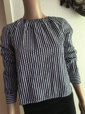 H&M Crash Blouse white-blue