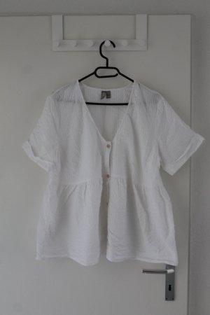 Asos Short Sleeved Blouse white cotton