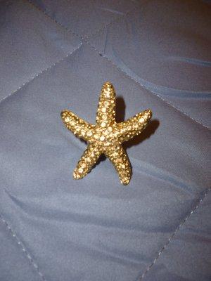 Seestern-Ring goldfarben