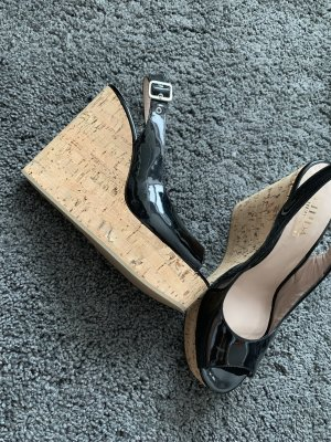 Linda Plateauzool sandalen zwart