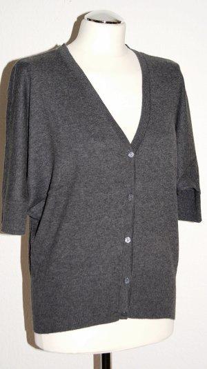 Sehr angenehme Feinstrick-Jacke mit kurzen Ärmeln - 100% Baumwolle