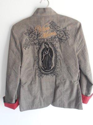Sehr ausgefall. Sakko / Blazer mit Madonna-Stickerei