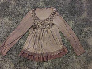 Elisa Cavaletti Ruche blouse veelkleurig Gemengd weefsel