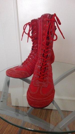Danny Shoes Stivaletto stringato rosso