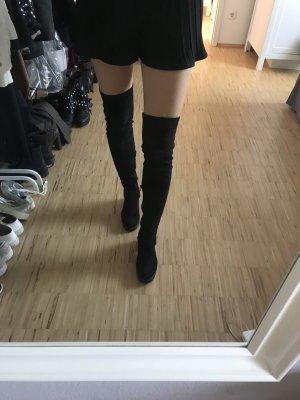 Topshop Botas sobre la rodilla negro