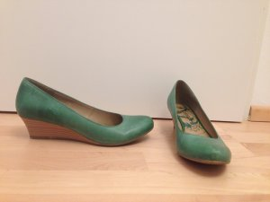 Venturini Wedge Pumps brown-green