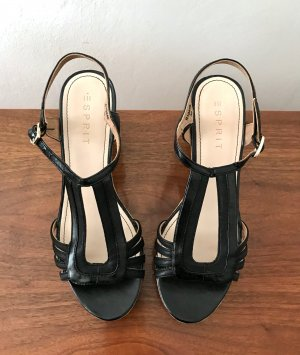 Esprit Wedge Sandals black-oatmeal