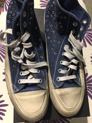 Candice Cooper High Top Sneaker cream-blue
