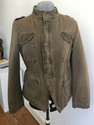 Sehr coole Frühjahrsjacke von Zara in khaki-used look im Militarystil Größe L