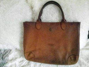 Sehr coole Longchamp Tasche Shopper Henkeltasche Echt Kalbs Leder
