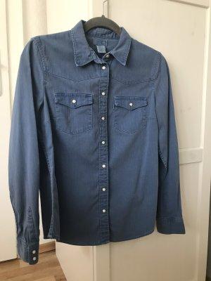 Levi's Camisa vaquera azul acero