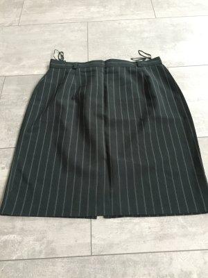 Falda de talle alto verde oscuro-negro