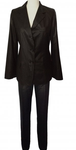 sehr edel 36 S JIL SANDER Designer Hosenanzug Anzug 100% feine Seide ungetragen