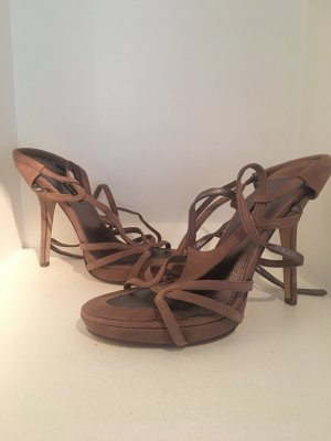 Diesel High Heel Sandal camel-bronze-colored suede