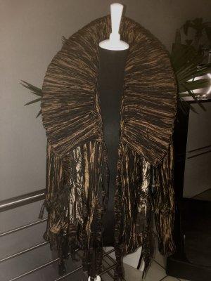 Chaqueta tipo blusa marrón-coñac Poliéster