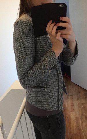 Sehr edler Blazer / taillierte kurze Jacke von H&M in grau