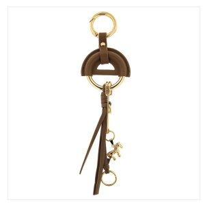 Sweet Deluxe Porte-clés argenté-marron clair cuir