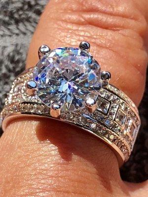 Zilveren ring lichtgrijs-zilver