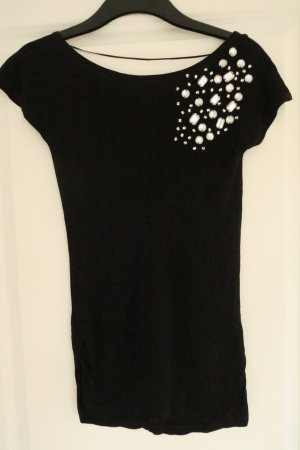 Mango Suit Backless Top black-silver-colored