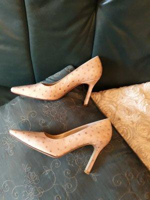 Charles Jourdan High Heels cream leather