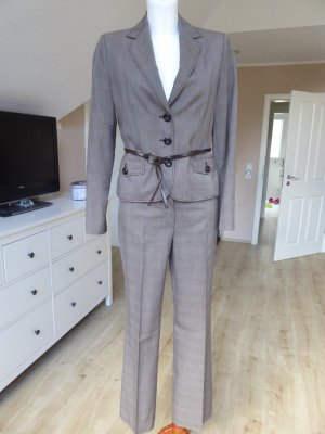 s.Oliver SELECTION Business Suit dark brown-cream cotton