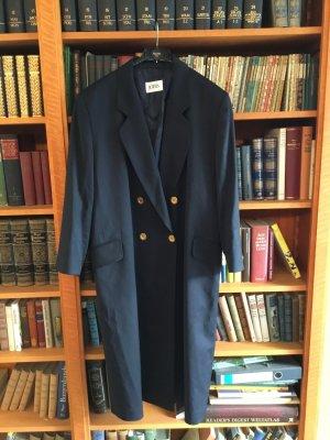 Sehr eleganter Jobis Mantel goldene Knöpfe Herbst Gr. 42 dunkelblau