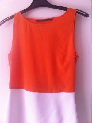 Sehr elegantes Tenniskleid in weiß/Orange