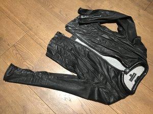 Arma Collection Chaqueta de cuero negro-gris claro Cuero