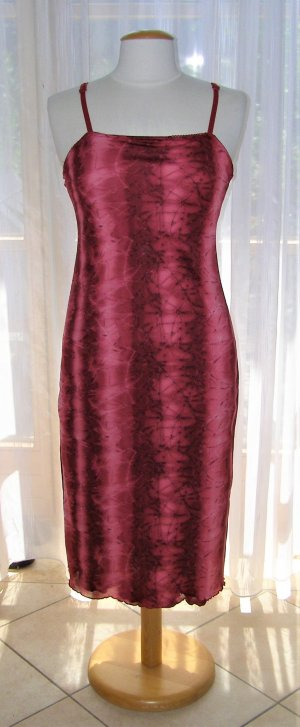 Tube Dress dark red-bright red polyester