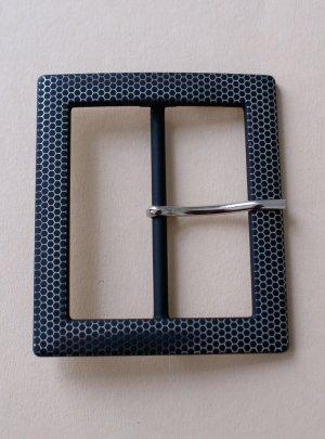 Belt Buckle black-silver-colored